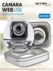 WEBCAM CON MICROFONO NETMAK NM-WEB01 PC NOTEBOOK 480P MULTIPLE POSICIONES