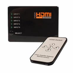 HDMI SWITCH 5 A 1 CON CONTROL NOGA HDMI-SW5