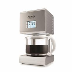 CAFETERA POR GOTEO PEABODY PE-CM2079S 1.5LTS 12 TAZAS ACERO INOXIDABLE DISPLAY LED