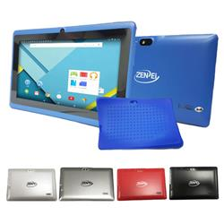 TABLET 7 ZENEI Z8 QUAD CORE 1.30GHZ 1GB RAM 8GB DOBLE CAMARA FUNDA VIDRIO TEMPLADO (COLORES)