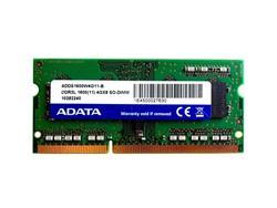 MEMORIA RAM SO DIMM DDR3 4GB 1600MHA ADATA