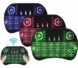 MINI TECLADO INALAMBRICO RETROILUMINADO TOUCHPAD BATERIA PC SMART TV BOX I8 BACKLIT