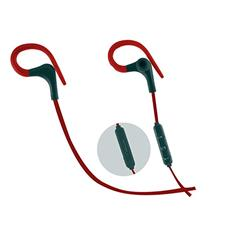AURICULAR IN EAR IDEAL PARA CORRER NETMAK NM-V6-R ROJO Y PLATEADO