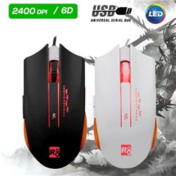 MOUSE GAMER USB R8 M1610 2400DPI 6D RGB