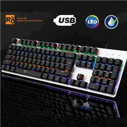 TTECLADO MECANICO GAMER R8 G100 RESISTENTE AL AGUA USB