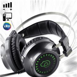 AURICULAR HEADSET GAMER R8 G3 PARA PC CON LUZ Y VINCHA DE METAL