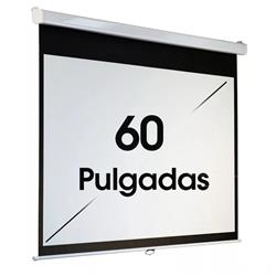 PANTALLA PARA PROYECTOR 60 PULGADAS MANUAL 16:9 PARED