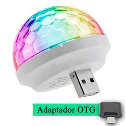 LAMPARA LED USB + OTG MULTICOLOR AUDIORITMICA CELULAR PARLANTES