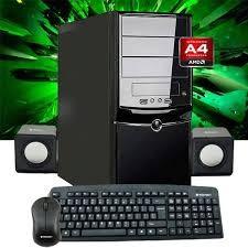 PC ARMADA AMD A4 6300 X2 ATI HD 8370, 1TB, 4GB, MB A68 ASROCK, HOGAR TRABAJO
