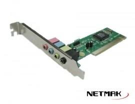 PLACA DE SONIDO PCI 4 CANALES NETMAK NM-4CH