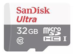 MICRO SD 32GB SANDISK ULTRA CON ADAPTADOR CLASE10 CL10 - SDSQUNR-032G-GN3MA