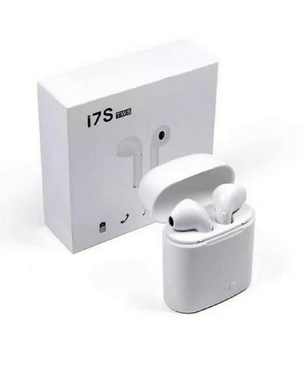 Auricular in ear Bluetooth I7s Tws Wireless Stereo Headset BLANCO NEGRO