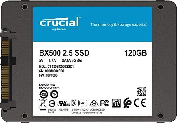 DISCO SOLIDO SSD 120GB CRUCIAL BX500 NEW