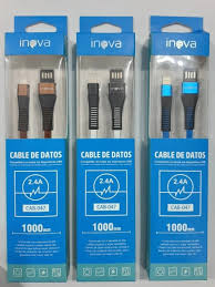 CABLE USB INOVA CAB-035 IPHONE 1.20 MTS 3.1A