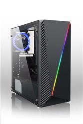 GABINETE LNZ LZ10 ACRILICO LATERAL PSU COVER FILTRO A/POLVO COOLER 120MM HD AUDIO RGB