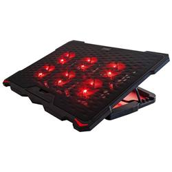 BASE PARA NOTEBOOK NOGA NG-Z035 13 A 17 6 COOLERS LED ROJO INCLINABLE 4 POCISIONES REG VELOCIDAD