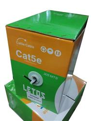 BOBINA CABLE UTP 305 MTS CAT5 INTERIOR LETOS LE-UTI