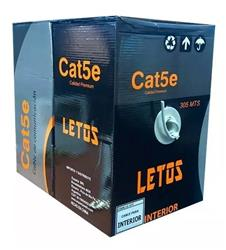 BOBINA CABLE UTP 305 MTS CAT5 EXTERIOR LETOS LE-UTEX