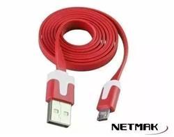 CABLE MICRO USB NETMAK NM-C68 1.8 METROS COLORES