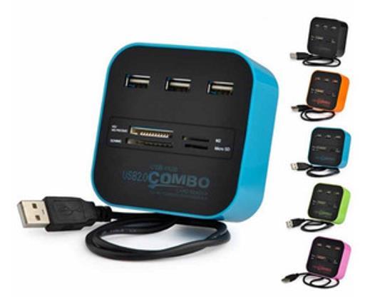 HUB USB MULTIPLE D/MICROSD/M2/PRO DUO ZENEI