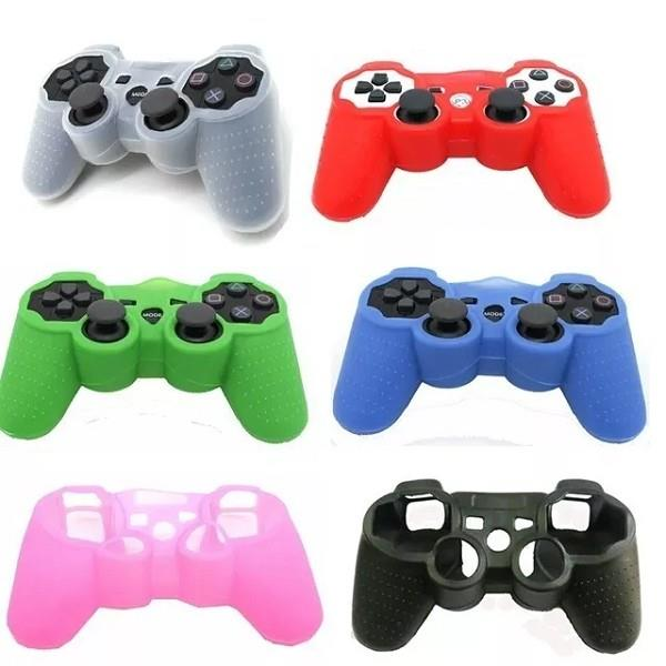 FUNDA PROTECTORA SILICONA JOYSTICK PS3 LISO (COLORES)