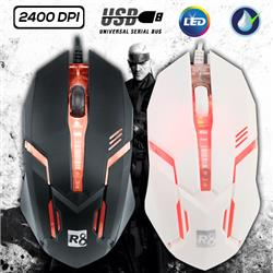 MOUSE GAMER USB R8 M1602L 3D LED