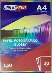 PAPEL FOTOGRAFICO AMERIPRINT A4 GLOSSY 210GRS X20 HOJAS