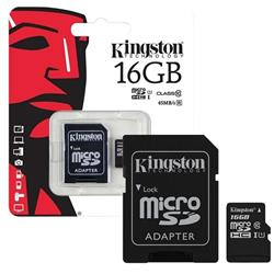 MICRO SD 16GB KINGSTON CL10 - SDCS/16GB