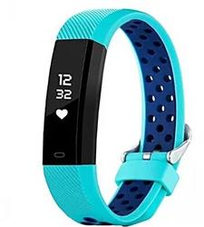 SMARTWATCH SMARTBAND 115 PLUS CELESTE BLUETOOTH ANDROID IPHONE