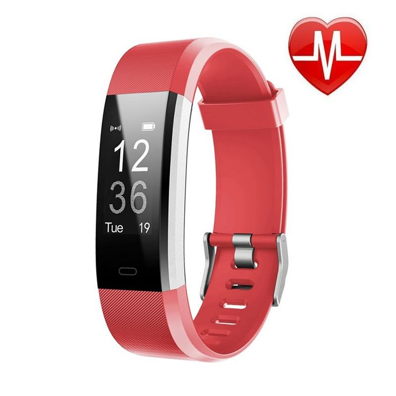 SMARTWATCH SMARTBAND 115 PLUS ROJO BLUETOOTH ANDROID IPHONE