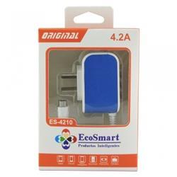 CARGADOR DE PARED ECOSMART 5V 4.2A ES-4200 (N)***