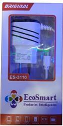 CARGADOR DE PARED ECOSMART 5V 3.1A ES-3100 (N)***