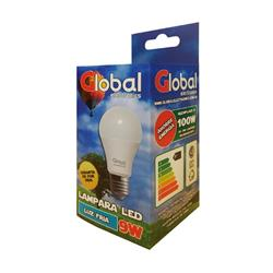 LAMPARA DE LED DE 9 WATTS REEMPLAZO 100W FRÍA 6500K 720 LUMENS DE TIPO A60