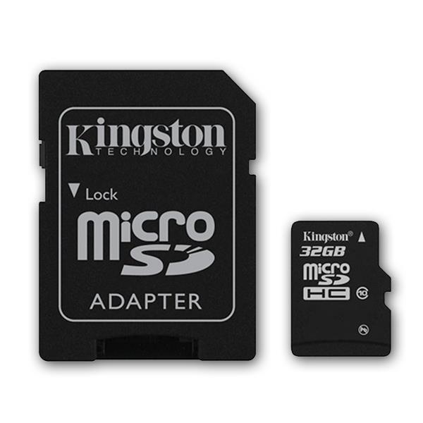 MICRO SD 32GB KINGSTON CL10 - SDCS/32GB