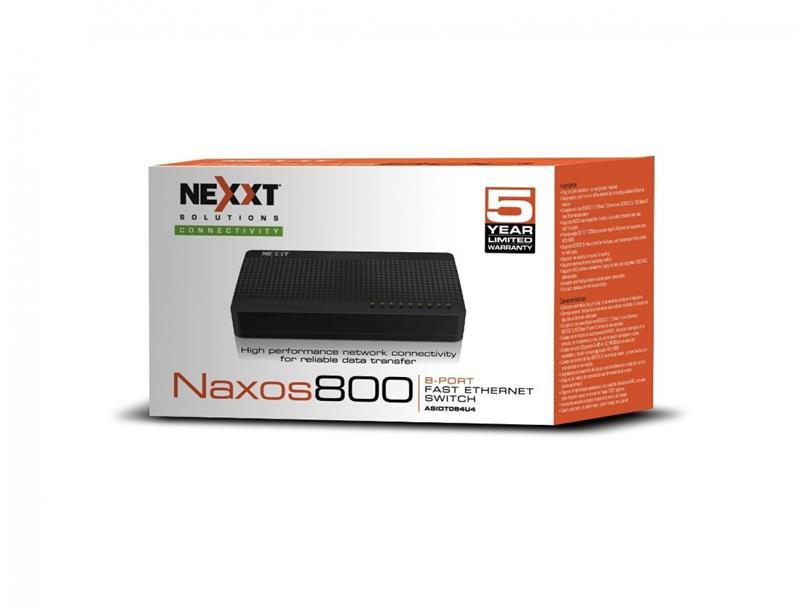 SWITCH 8 BOCAS NEXXT 10/100 NAXOS 800