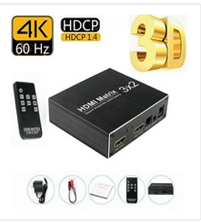 Splitter Hdmi Activo 3x2 Zenei F50 Tv Led Lcd 3d Version 1.4 1080p Hd 4K