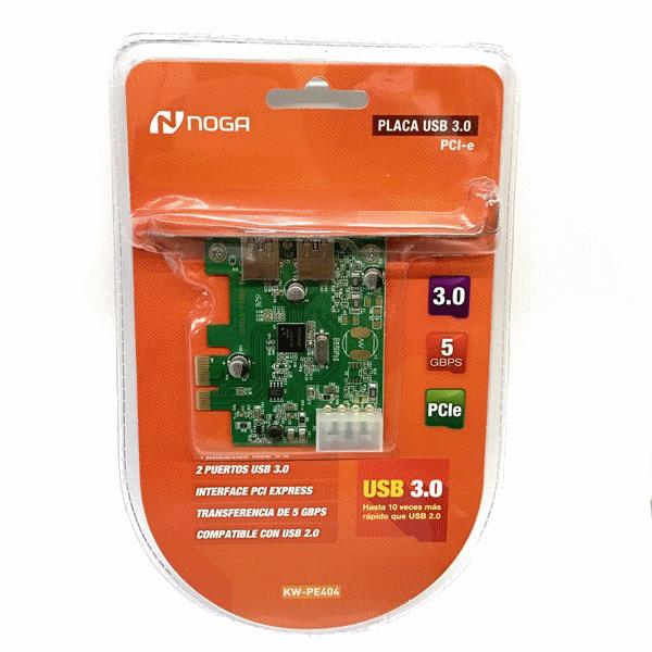 PLACA PCI-EXPRESS X2 USB 3.0 NOGA KW-PE404