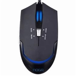 MOUSE NOGA GAMER ST-339N 6D 2400 DPI-LED NEGRO