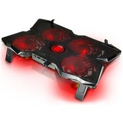 BASE PARA NOTEBOOK GAMER NOGA NG-COOL30 4 COOLERS LED ROJO 1200 RPM BOTON ON/OFF