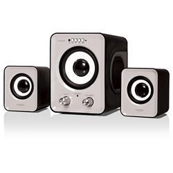 PARLANTE NOGA ML-810 11W 2.1 BLUETOOTH USB MICROSD FM NEGRO CON CONTROL REMOTO