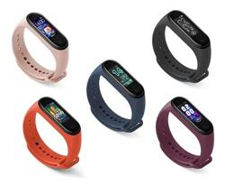 SMARTWATCH SMARTBAND M5 VIOLETA BLUETOOTH BAND WATCH CELULAR ANDROID IPHONE