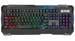 TECLADO GAMER RETROILUMINADO RGB MULTIMEDIA XTRIKE ME KB-705 USB