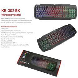 TECLADO GAMER RETROILUMINADO XTRIKE ME KB-302
