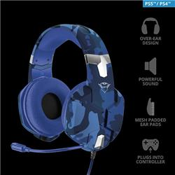 AURICULAR GAMER CON MICROFONO TRUST CARUS GXT 322B PC PS4 XBOX ONE NSWITCH