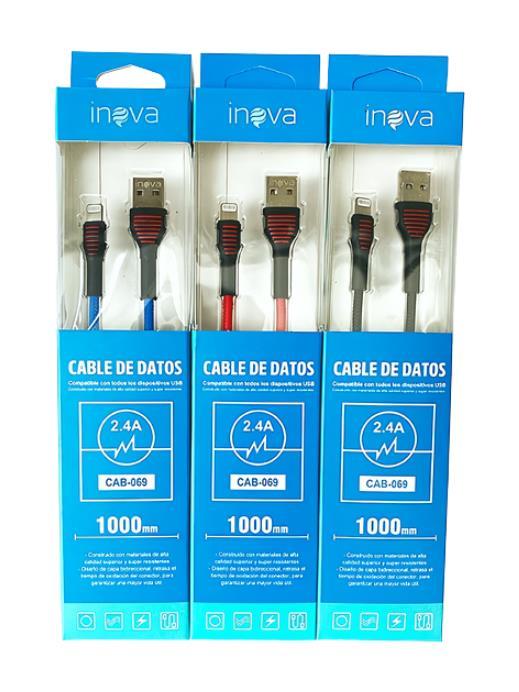CABLE USB IPHONE INOVA CAB-066 2.4A