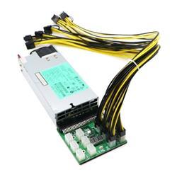 FUENTE HP 1200W + BREAKOUT 16 SALIDAS + 8 CABLES DE 60CM PCIE 6PIN-6+2PIN