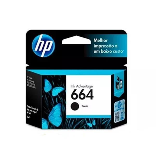 CARTUCHO HP ORIGINAL 664 NEGRO (HEWF6V29AL)