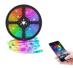 TIRA DE LED RGB X 5 METROS BLUETOOTH APP CELULAR