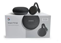 Smart Tv Kit Google Chromecast 3 + Home Mini Original Asistente De Voz Y Parlante 3w