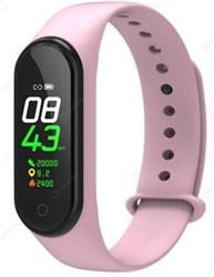 SMARTWATCH SMARTBAND M4 ROSA BLUETOOTH BAND WATCH CELULAR ANDROID IPHONE